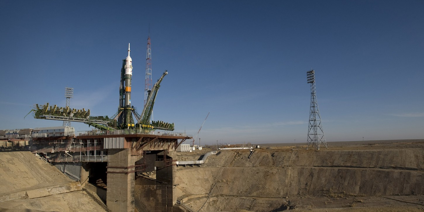 Soyuz on the pad